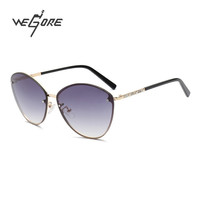 WEGORE 2017 Women Polarized Sunglasses Brand Designer Cat eye Driving Sun Glasses Round Brand Designer gafas de sol mujer WG1044