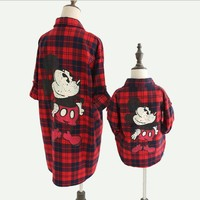 2017 Hot Mother And Daughter Clothes Spring Family Matching Outfits Cotton Plaid Girl And Mom Shirt Family Look Clothing