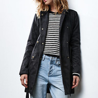 Renamed Faux Suede Trench Coat at PacSun.com