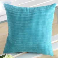 Soft Corn kernels Corduroy Throw Pillow Case Cover Square 5576