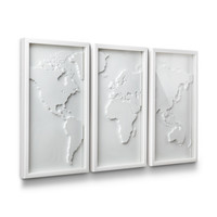White World Map