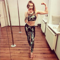 Gym Hot Sale Camouflage Print Sports Yoga Pants Leggings [10182760903]