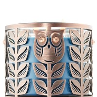 3-Wick Candle Sleeve Gem-Eyed Owls
