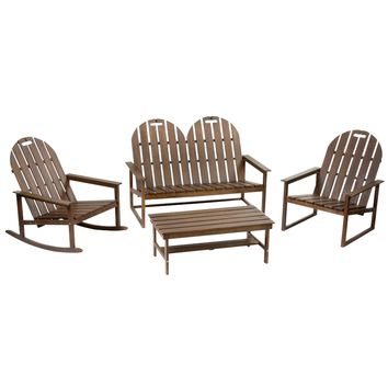Avalon Adirondack Outdoor Chat Set, 4-Piece