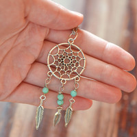 Dreamcatcher Necklace, Gypsy Jewelry, Dream Catcher Jewelry, Dream Catcher Necklace, Bohemian Jewelry