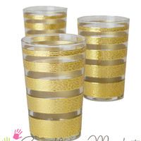 Luxury Ring Tea Glasses, Gold and Clear (Set of 6) (TTC0053) - Casablanca Market