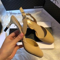Chanel Fashion leather slingbacks
