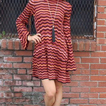 Ziggy Sweater Tunic Dress - Red Combo by Free People