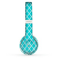 The Morocan Teal Pattern Skin Set for the Beats by Dre Solo 2 Wireless Headphones