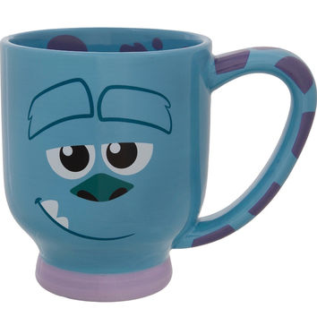 disney parks monsters inc sulley striped ceramic coffee cup mug new