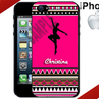 Personalized Ballerina iPhone Case - iPhone 5 Case or iPhone 4 Case