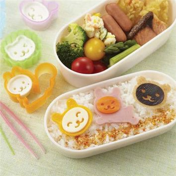 squirrel bear lion rabbit Bento food cutters - Bento Accessories - Bento Boxes