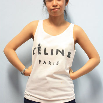 Celine Paris Shirt Women Women Tank Tops T-shirt Size S,M,L