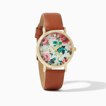 Vintage Blooms Watch | Fashion Jewelry | charming charlie