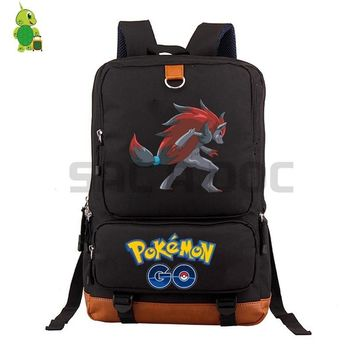 Go Zoroark School Bag women men Laptop Backpack for Teenage Boys Girls Daily Backpack Large Capacity Travel BagsKawaii Pokemon go  AT_89_9