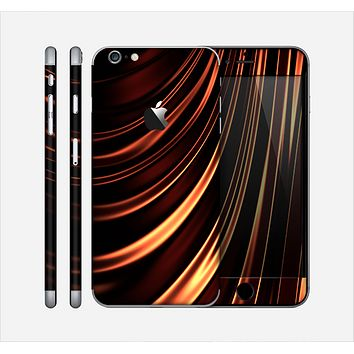 The Dark Orange Shadow Fabric Skin for the Apple iPhone 6 Plus