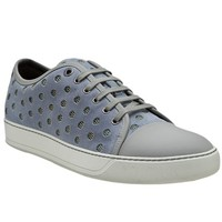 Lanvin Perforated Lace Up Trainer