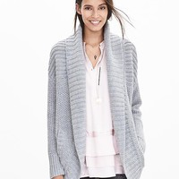 Banana Republic Womens Mixed Stitch Open Cardigan