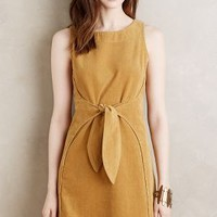 Holding Horses Tied Corduroy Dress in Maize Size: