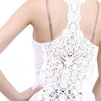 Beautiful Lace Back Shirt!