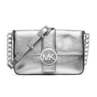 MICHAEL Michael Kors Small Fulton Metallic Messenger