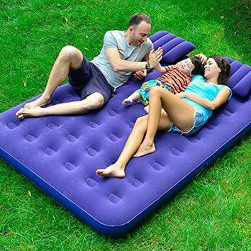 KIMSAI Inflatable Bed Air Bed Double Increase Air Mattress Thick Outdoor Tent Portable Bed