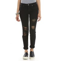 Mudd Distressed Skinny Ankle Juniors' Jeans, Size: