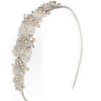 Wedding Sideband, Lace Headband, Wedding Sideband, Wedding Headdress, Bridal Headdress, Wedding Tiara