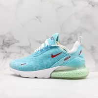 Nike Air Max 270 Sky Blue White Red Running Shoes - Best Deal Online