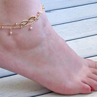 Sexy Ladies New Arrival Shiny Jewelry Stylish Gift Cute Hot Sale Infinity Simple Handcrafts Set Anklet [8080504839]