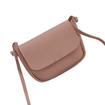 2016 Women New Fashion Pu Leather Shoulder Bag Female Simple Lichee Patten Crossbody Bag Ladies Elegant Money Purse Bag Dec21