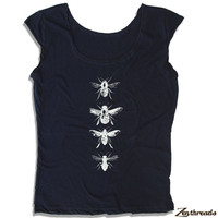 Womens BEES Scoop Neck Tee - american apparel T Shirt S M L XL