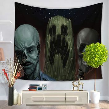 Terror Skeleton Pattern Printed Hanging Wall Tapestry Home Decor Yoga Mat Living Room Decoration 150*130cm/150*200cm