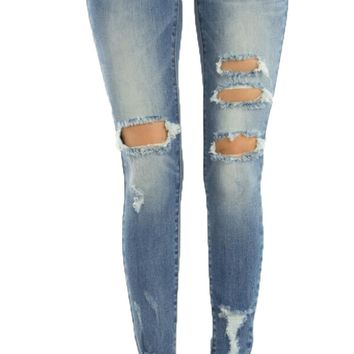 Kan Can Anna-Kay High Rise Ankle Skinny Jeans