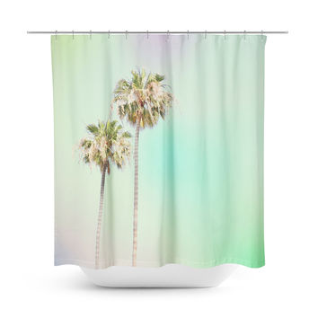 Pastel Palm Trees Shower Curtain