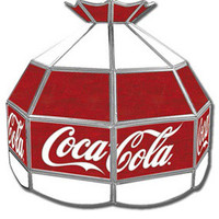 Coca-Cola ® Vintage Tiffany Lamps Coke Hanging Lamps RetroPlanet.com