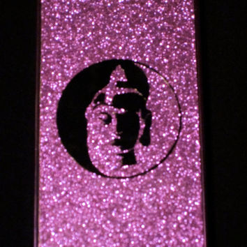 Yin Yang Buddha Purple Glitter IPhone 5 Case