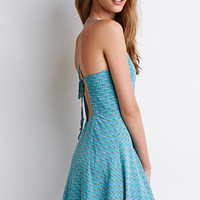 Bird Print Halter Dress