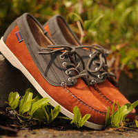 Ronnie Fieg X Sebago Vincent - Salmon / Grey | 7 Shoes | Ronnie Fieg x Sebago
