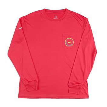 FieldTec Pocket Tee - Long Sleeve in Strawberry Fizz by Southern Marsh