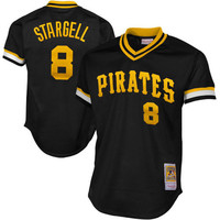 Mitchell & Ness Willie Stargell 1982 Authentic Mesh BP Jersey Pittsburgh Pirates In Black