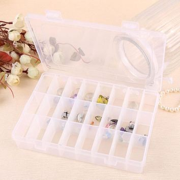 Super Deal Elegant Tray 24 Slot Case Jewelry Rings Display Box Jewelry Storage XT