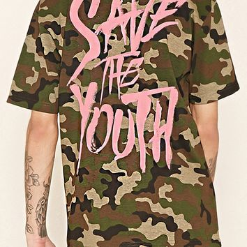 Defyant Save the Youth Camo Tee