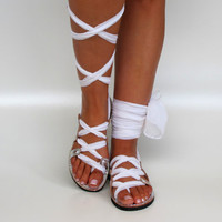Silver Leather Sandals Unique design with by GreekChicHandmades