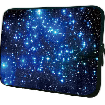 """Blue Stars Laptop Sleeve Case Notebook Tablet Pouch Cover 10 10.1 10.6 11.6 12.1 13 13.3 14"""" 15 15.4 15.6 17"""" For Samsung Lenovo"""