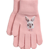 Gloves with Printed Motif - from H&M