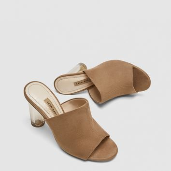 MULES WITH ACRYLIC HEEL - Heeled Sandals-SHOES-WOMAN | ZARA United States