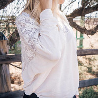 Ivory lace top, low back, Bohemian, hippie