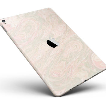 """Pink Slate Marble Surface V47 Full Body Skin for the iPad Pro (12.9"""" or 9.7"""" available)"""