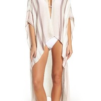BCBG Seaside Stripes Cover-Up Duster | Nordstrom